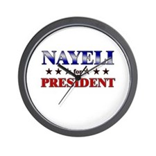 NAYELI for president Wall Clock
