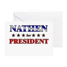 NATHEN for president Greeting Card