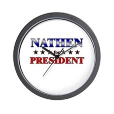 NATHEN for president Wall Clock