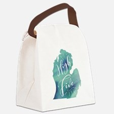 Cute Lower Canvas Lunch Bag