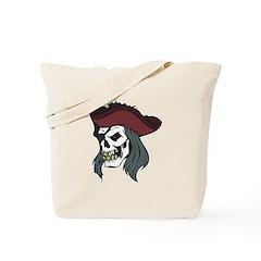 Evil Pirate Skull Tote Bag