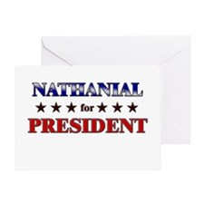 NATHANIAL for president Greeting Card