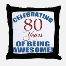 Unique 80 year olds Throw Pillow