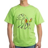 Bareback riding Green T-Shirt