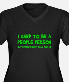 People Person Humor Plus Size T-Shirt