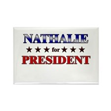 NATHALIE for president Rectangle Magnet (10 pack)
