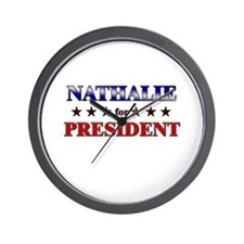 NATHALIE for president Wall Clock
