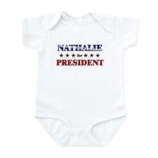 NATHALIE for president Infant Bodysuit