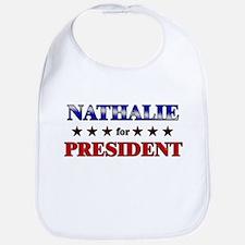 NATHALIE for president Bib