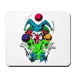 Evil Juggling Jester Clown Mousepad