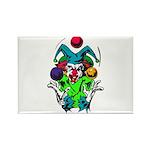 Evil Juggling Jester Clown Rectangle Magnet (10 pa