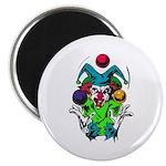 Evil Juggling Jester Clown Magnet