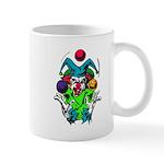 Evil Juggling Jester Clown Mug