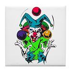 Evil Juggling Jester Clown Tile Coaster
