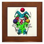 Evil Juggling Jester Clown Framed Tile