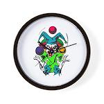 Evil Juggling Jester Clown Wall Clock