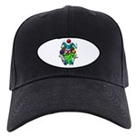 Evil Juggling Jester Clown Black Cap