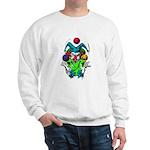 Evil Juggling Jester Clown Sweatshirt