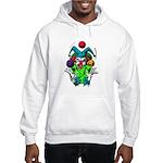 Evil Juggling Jester Clown Hooded Sweatshirt