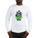 Evil Juggling Jester Clown Long Sleeve T-Shirt