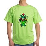 Evil Juggling Jester Clown Green T-Shirt