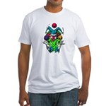 Evil Juggling Jester Clown Fitted T-Shirt
