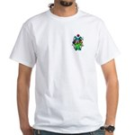 Evil Juggling Jester Clown White T-Shirt