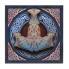 Thor's Hammer Tile Coaster