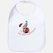 First Christmas Mouse RED Bib