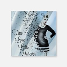 "Cute True love is forever Square Sticker 3"" x 3"""