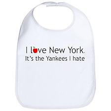 """""""I love New York. It's the Yankees I hate."""" Bib"""