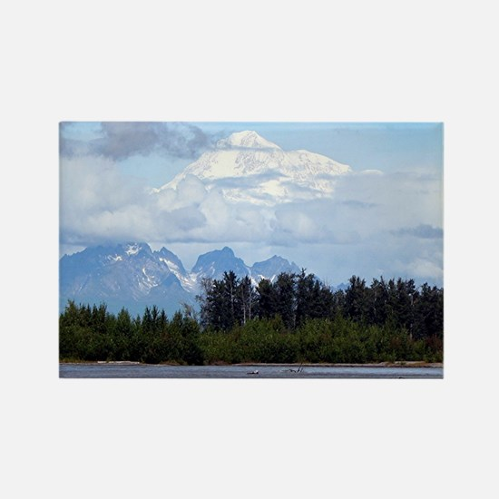 Cute Mountains Rectangle Magnet