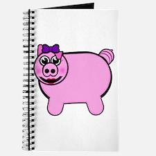 Girly Stuffed Pig Journal