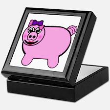 Girly Stuffed Pig Keepsake Box