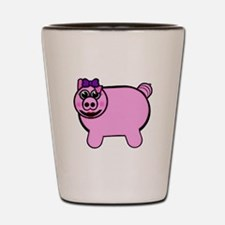 Girly Stuffed Pig Shot Glass