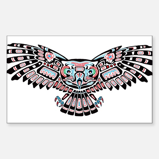 Mystic Owl in Native American Style Decal