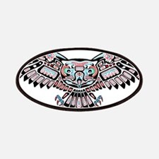 Mystic Owl in Native American Style Patch