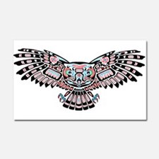 Mystic Owl in Native American Style Car Magnet 20