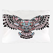 Mystic Owl in Native American Style Pillow Case