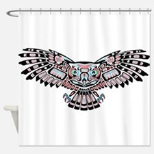 Mystic Owl in Native American Style Shower Curtain