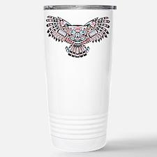 Mystic Owl in Native American Style Travel Mug