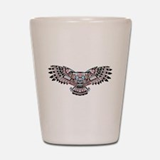 Mystic Owl in Native American Style Shot Glass