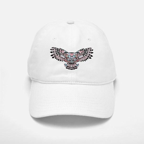 Mystic Owl in Native American Style Baseball Baseball Baseball Cap