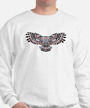 Mystic Owl in Native American Style Jumper