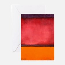 ROTHKO ORANGE RED PURPLE Greeting Cards