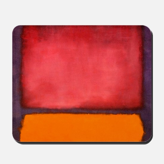 ROTHKO ORANGE RED PURPLE Mousepad