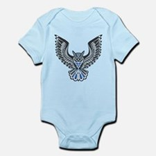 Owl Tattoo: Blue Body Suit