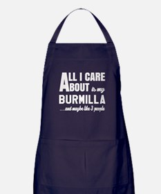 All I care about is my Burmilla Apron (dark)