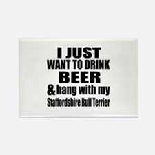 Hang With My Staffordsh Rectangle Magnet (10 pack)