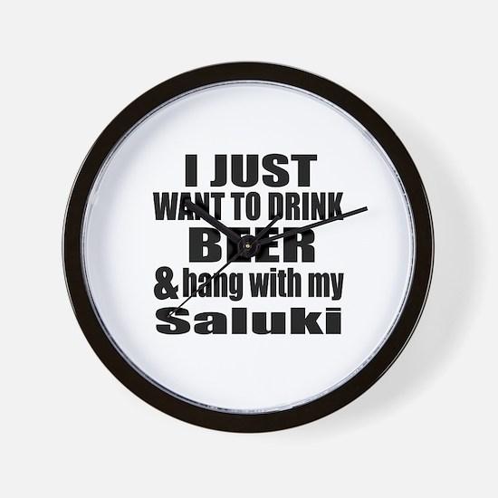 Hang With My Saluki Wall Clock